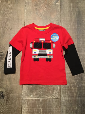 Fire Engine Long Sleeve Tee