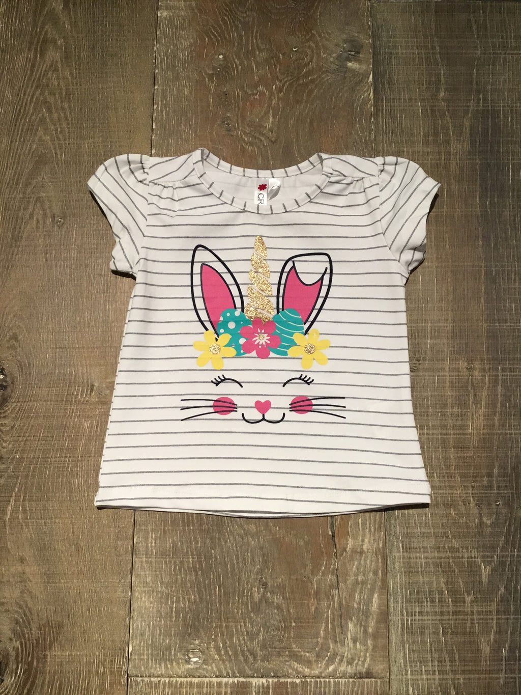 Bunny Unicorn Striped Top