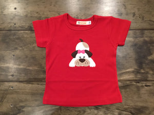 Playful Puppy with Bow Shirt by Luigi Kids