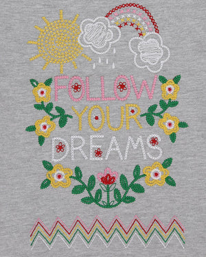 Size 6-7 years: Follow Your Dreams Angel Sleeve Shirt
