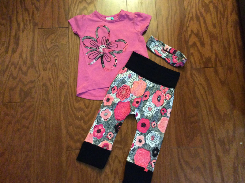 Noruk Floral Explosion Pant set with Headband