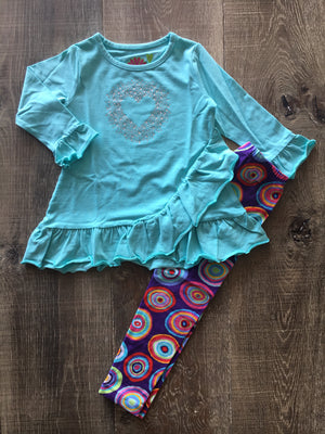 Aqua Mandy Swing Top & Legging Set