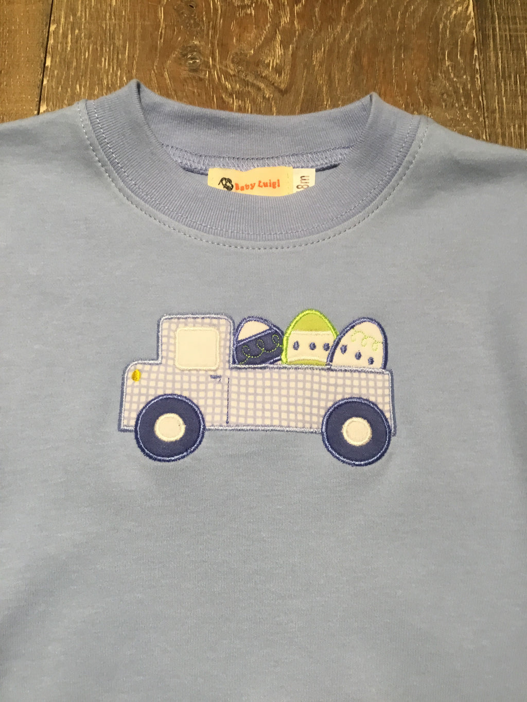 Truck w/ Easter Eggs - Sky Blue Easter Tee