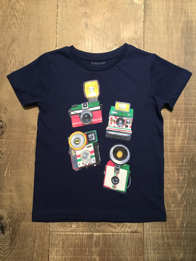 Cameras Navy Graphic Tee