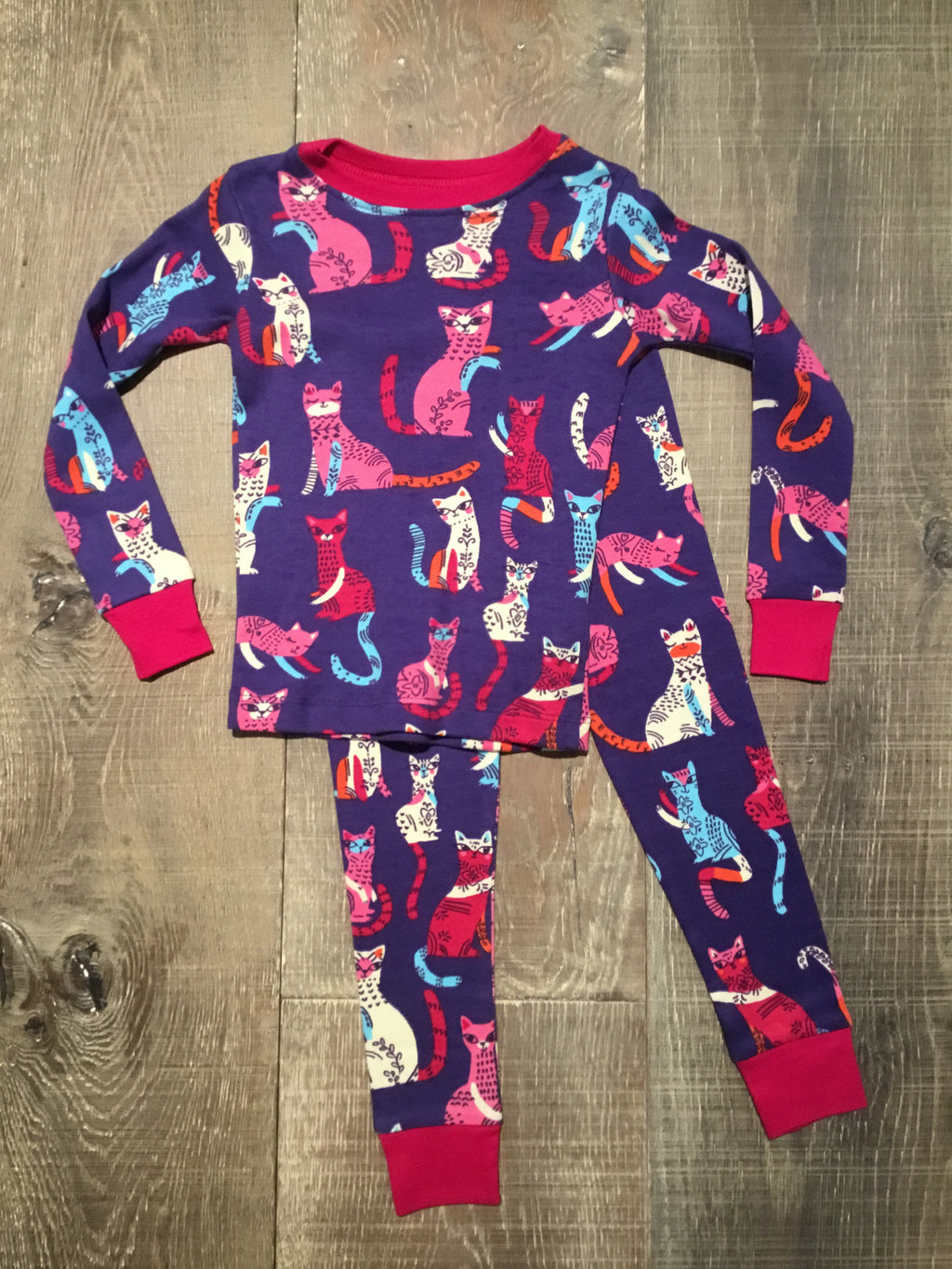 Patchwork Kitty Organic Cotton PJ Set