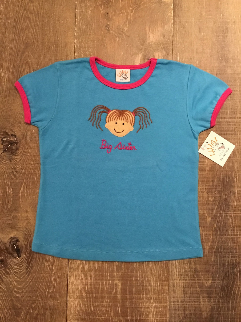Big Sister Blue Short Sleeve Shirt