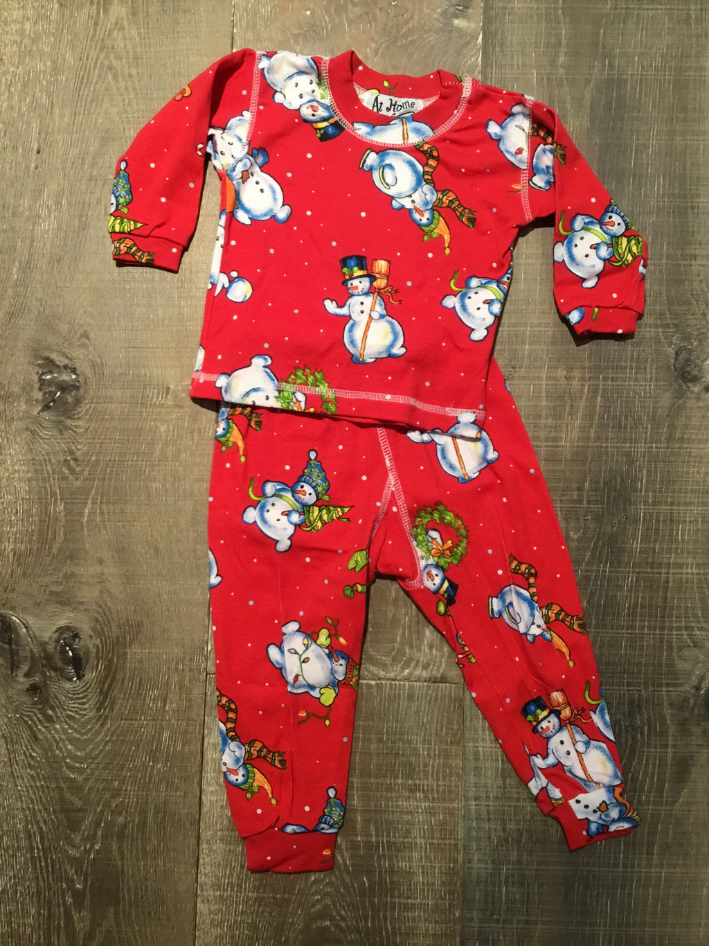 Frosty the Snowman Red Pajamas