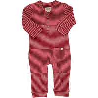 Red Stripe Jersey Coverall
