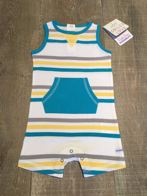 Key West Striped Knit Romper