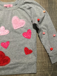 All My Heart LS Grey Shirt