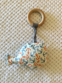 Natural Wooden Ring Whale Teether/Soother