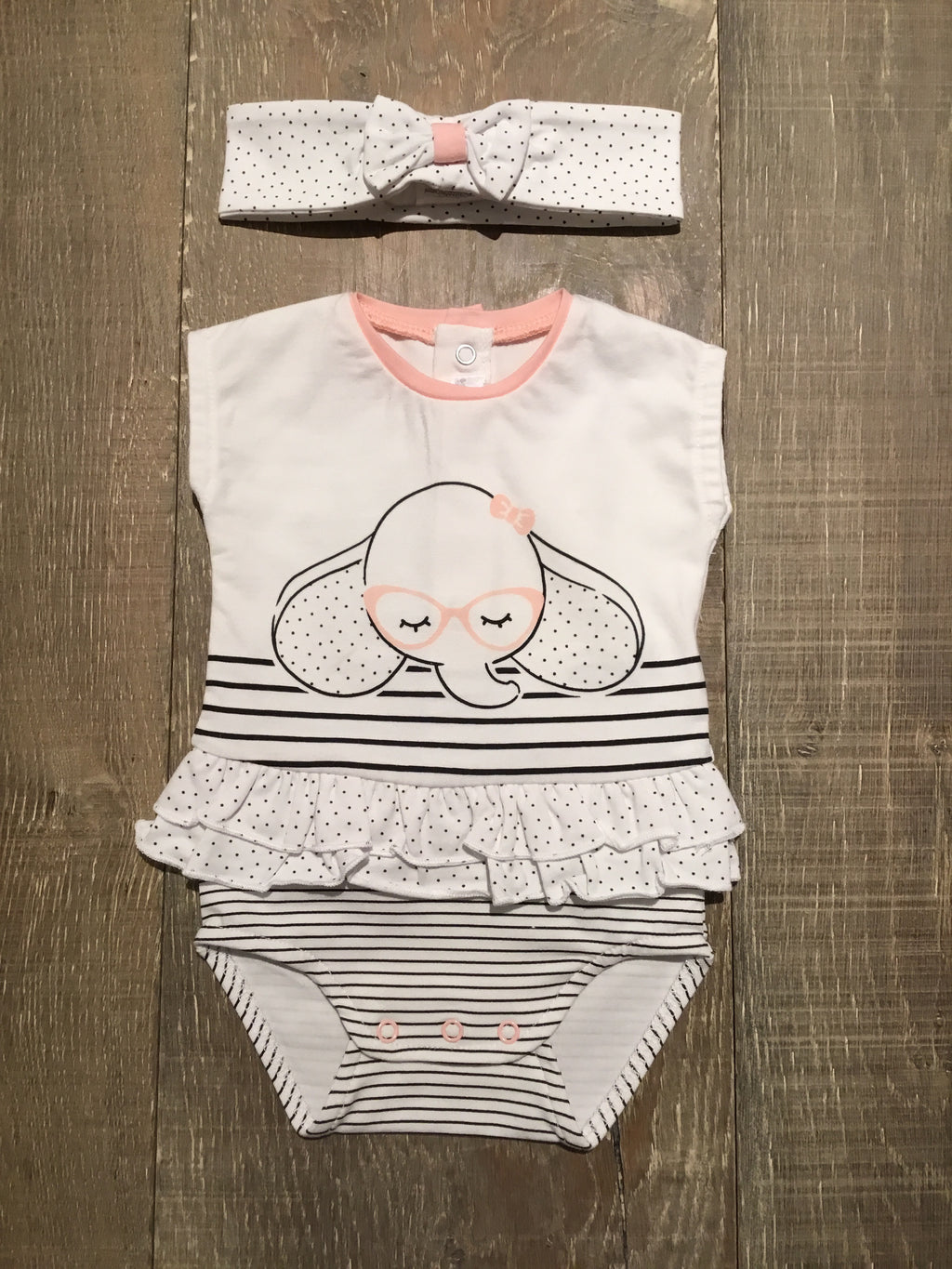 Elephant Romper with Headband