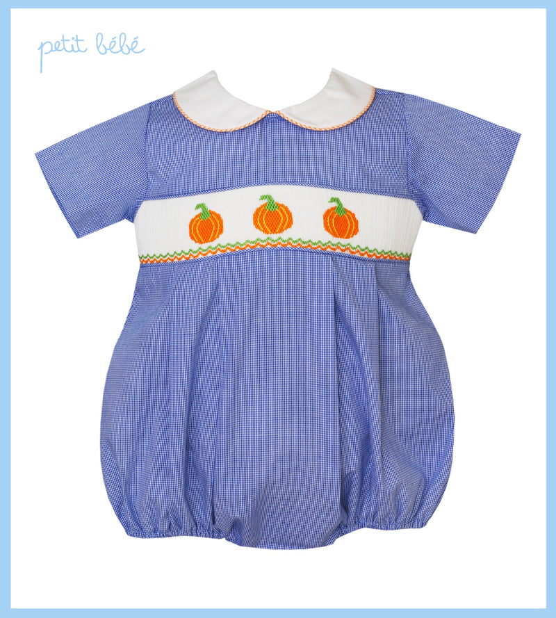 Smocked Pumpkin Bubble
