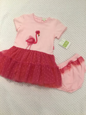Flamingo Dress and Bloomers