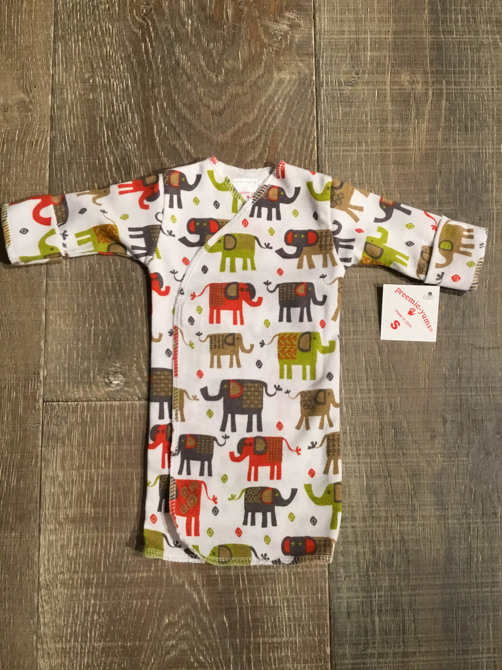 Elephant Preemie Long Shirt
