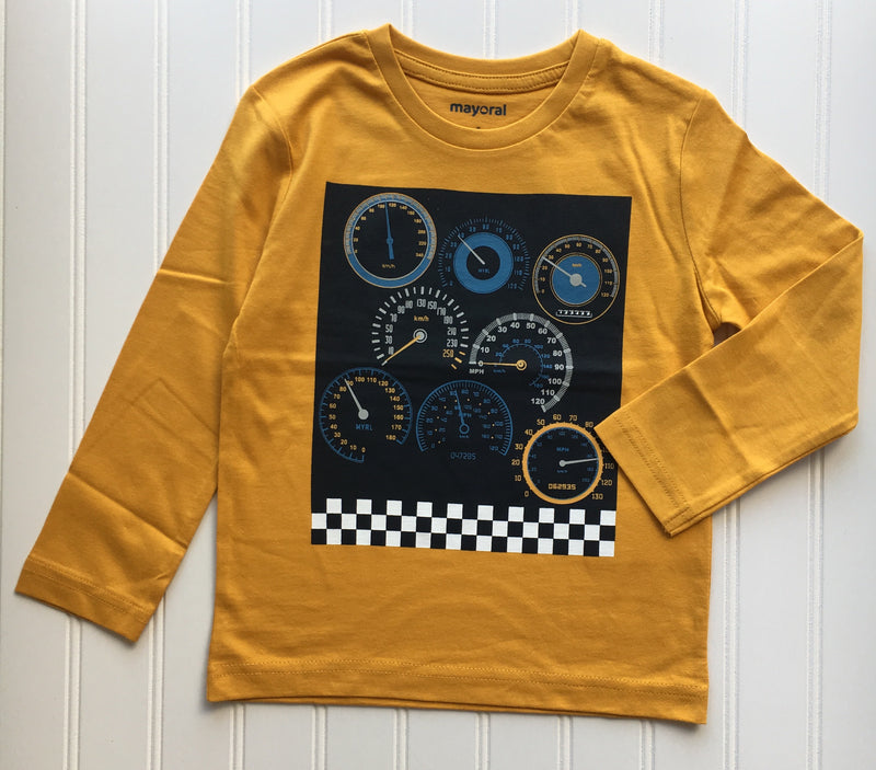 Mustard Grand Prix Long Sleeve Shirt