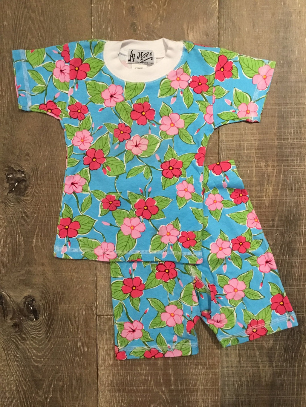 Turquoise Liana Floral Short PJs