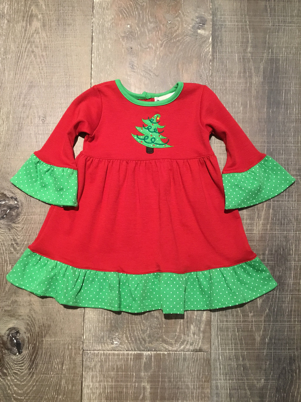 Christmas Tree Red Dress