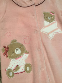 Teddy Bears & Stars Pink Footie
