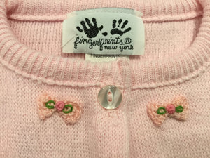 Pink Cardigan with Flower Bows
