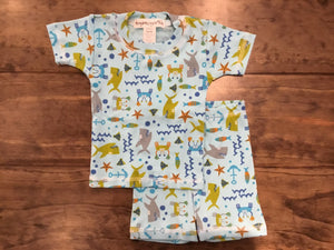 Crabs & Sharks Print Short PJs by Thingamajiggies4Kids