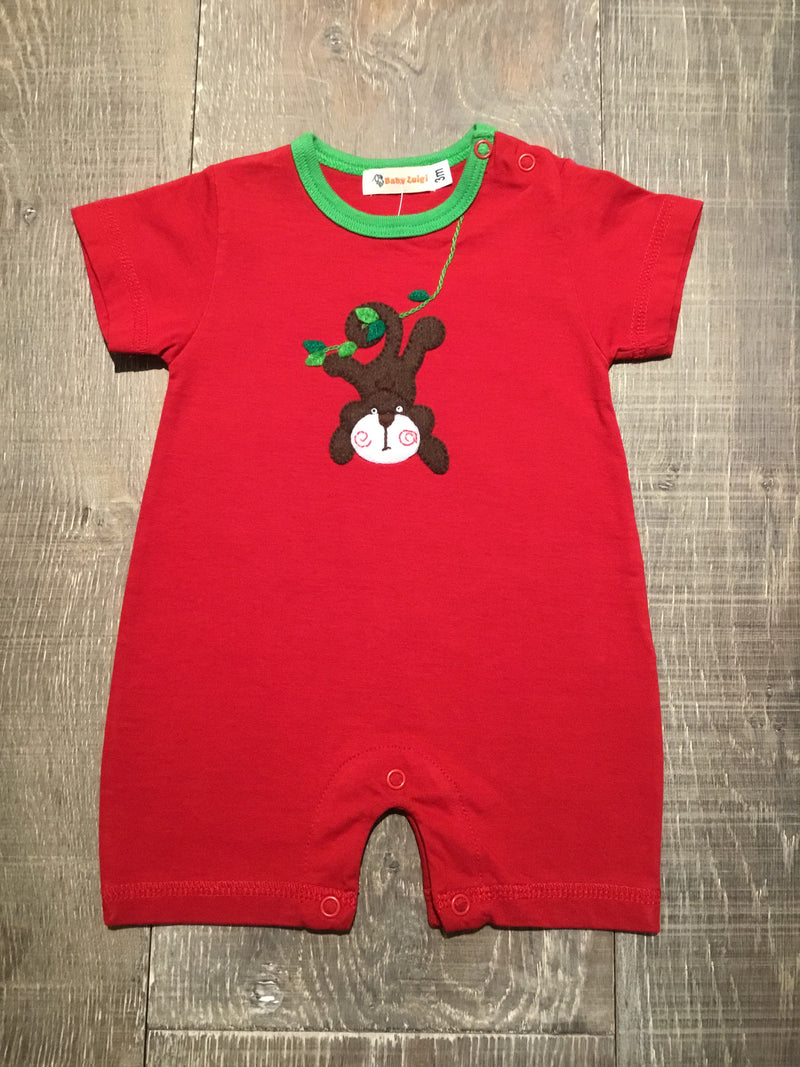 Monkey on Vine Short Romper