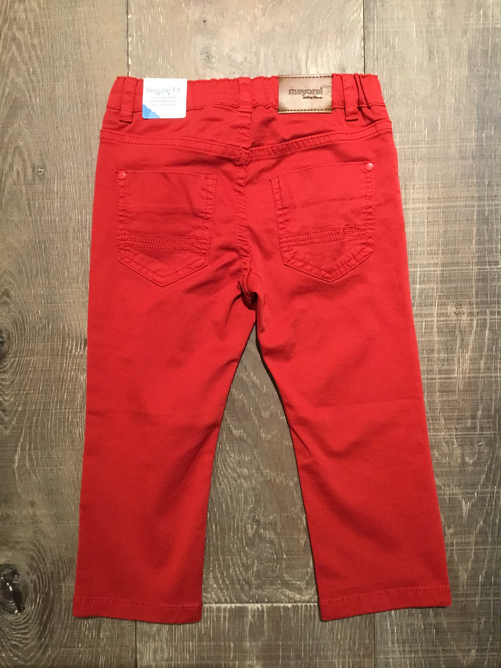 Regular Fit Colorado Red 5 Pocket Twill Trousers