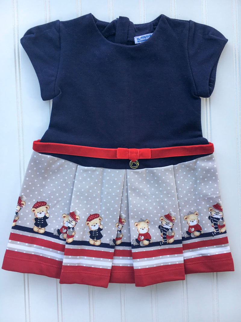 Navy Teddy Bear Dress