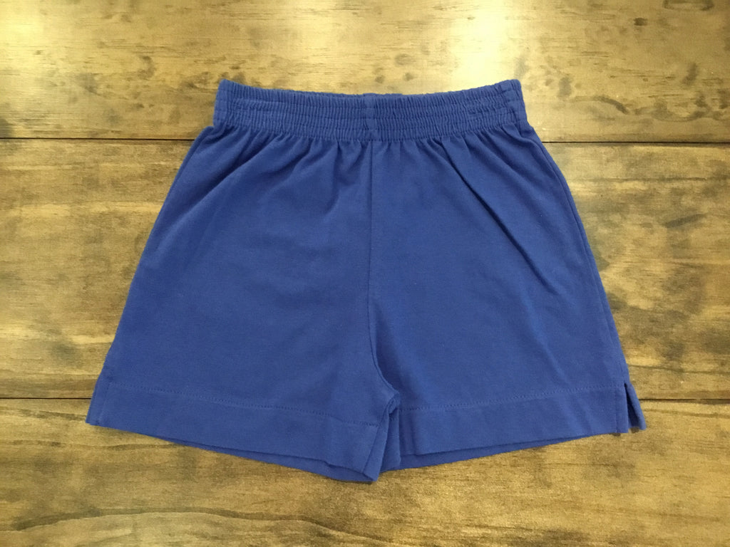 Royal Blue Jersey Knit Shorts by Luigi Kids