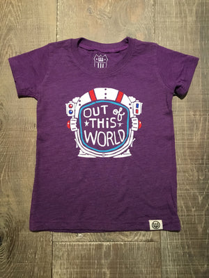 """Out of this World"" Purple Graphic Tee"