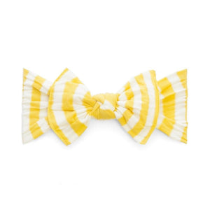 Mustard Stripe Baby Bling Patterned Knot