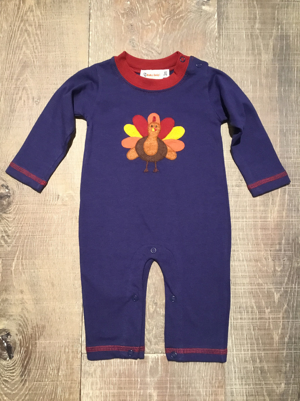 Boy's Autumn Turkey Navy Coverall