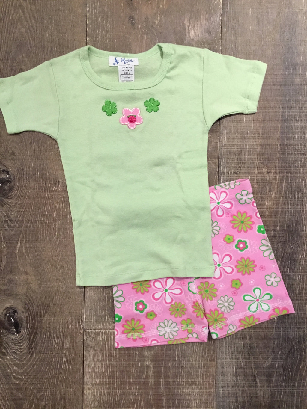 Green Daisies Short PJs