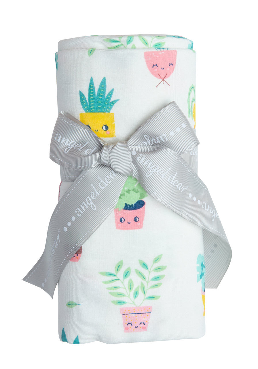 House Plant Swaddle Blanket