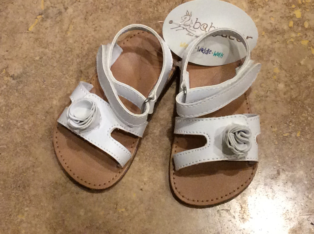Double Strap Sandal with Flower