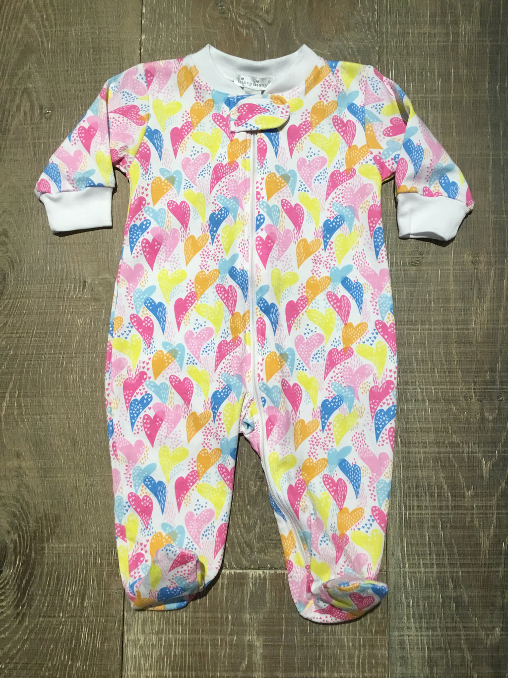 Rainbow Heart Footie