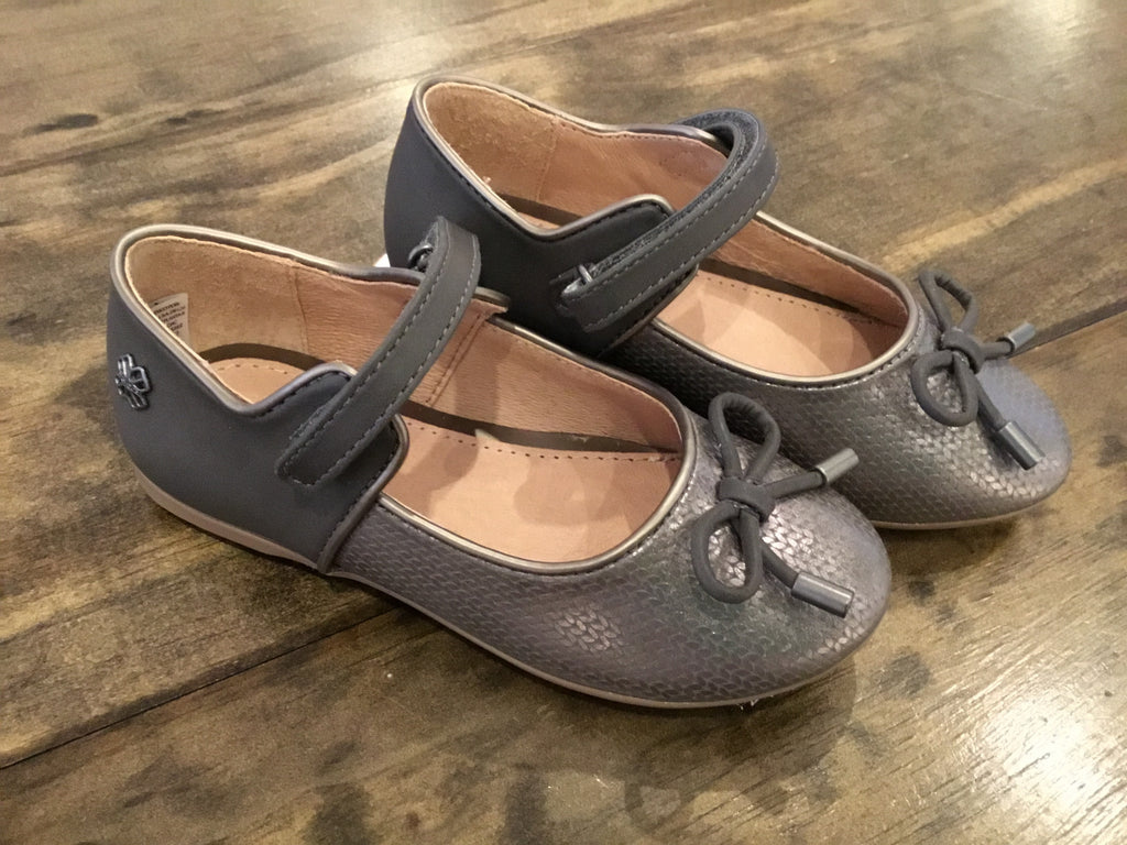 Graphite Textured Mary Janes