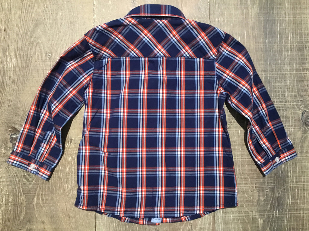Long Sleeve Poplin Check Shirt