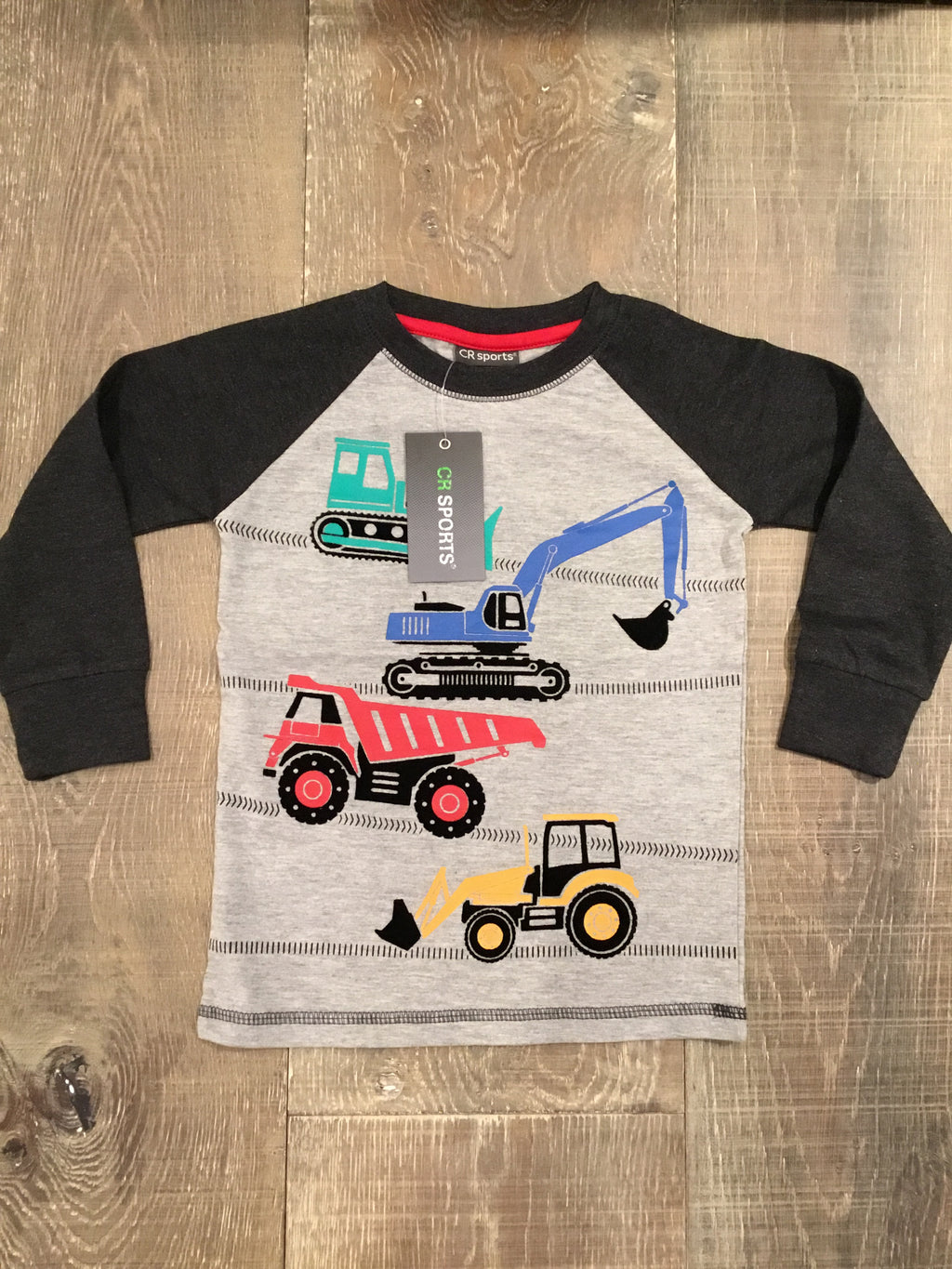 Construction Crew Stack Raglan Sleeve Shirt