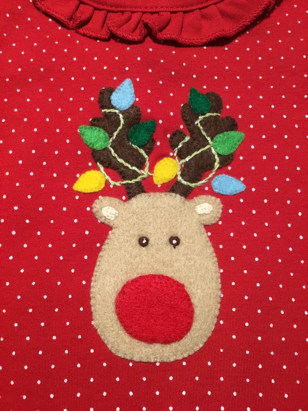 Girl's Rudolph & Lights Coverall