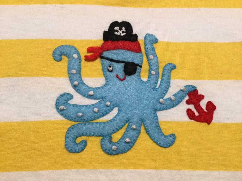Pirate Octopus Short Sleeve Shirt