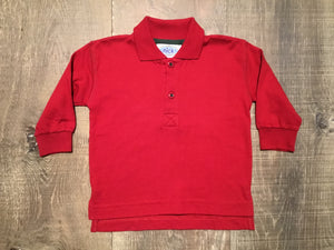 Deep Red LS Polo