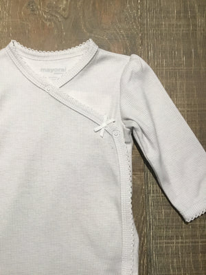 Grey & White Long Sleeve Onesie