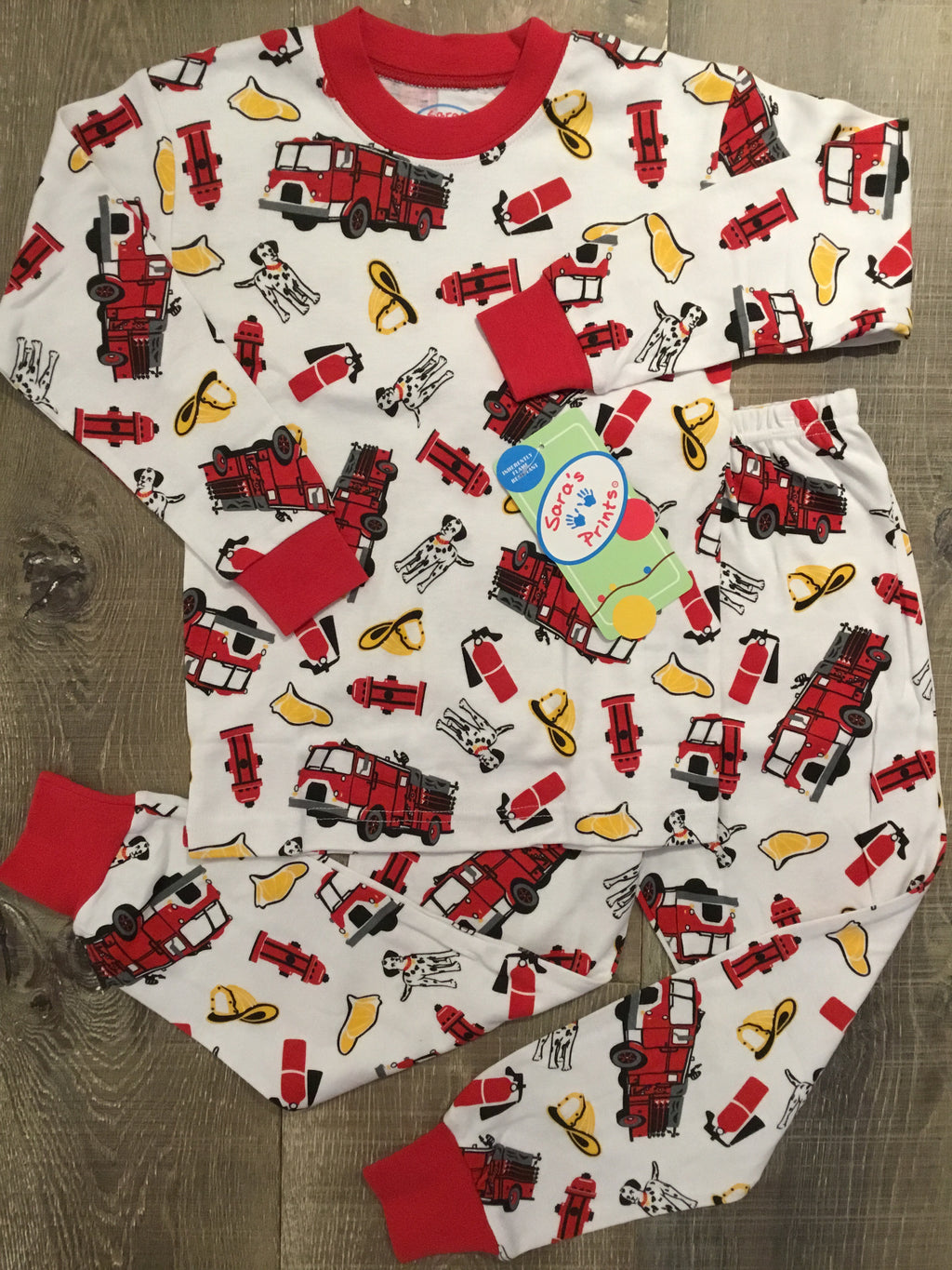 Firetrucks Long PJs