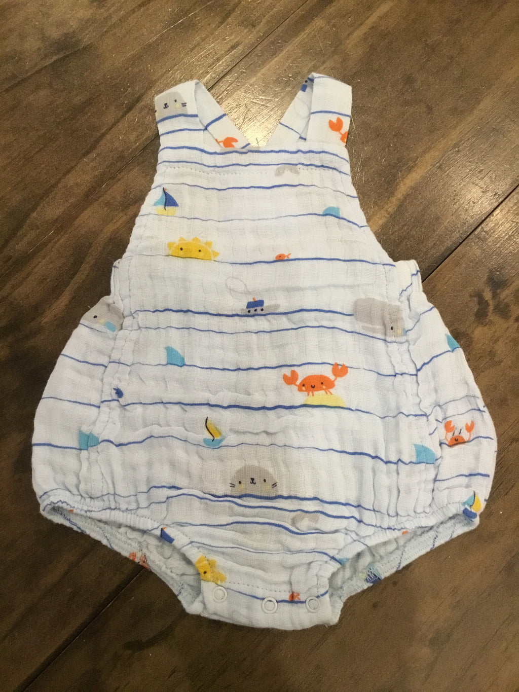 Sea Stripes Muslin Retro Sunsuit