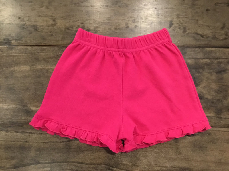 Fuchsia Ruffle Edge Shorts by Luigi Kids