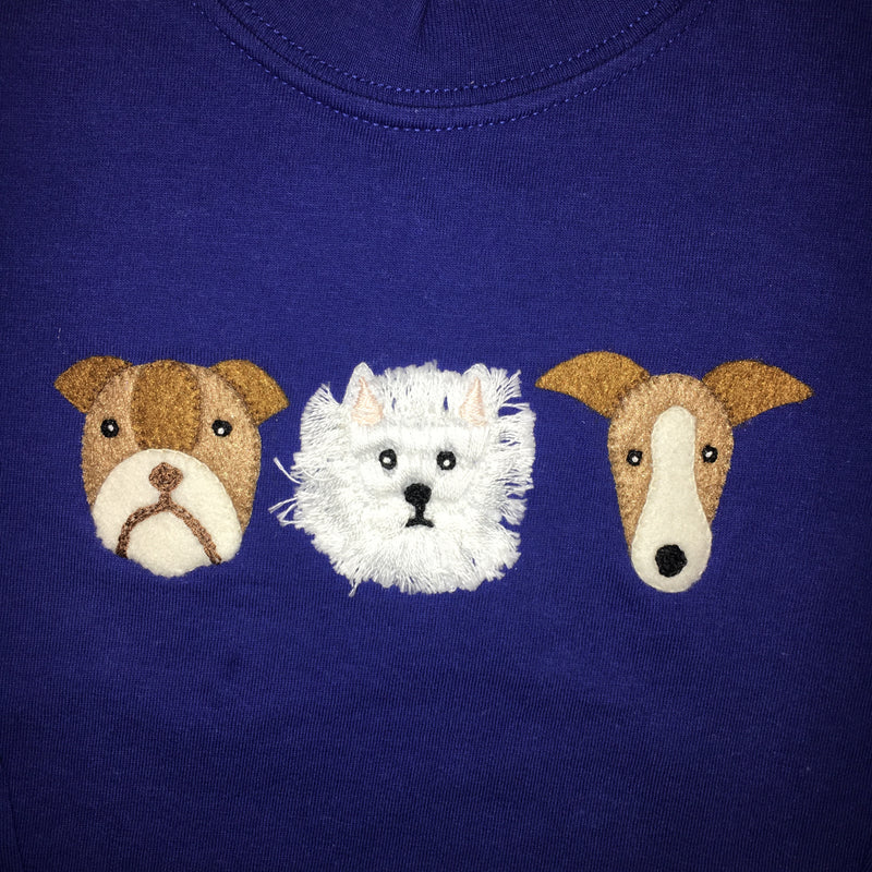 Luigi 3 Doggies Long Sleeved T-shirt