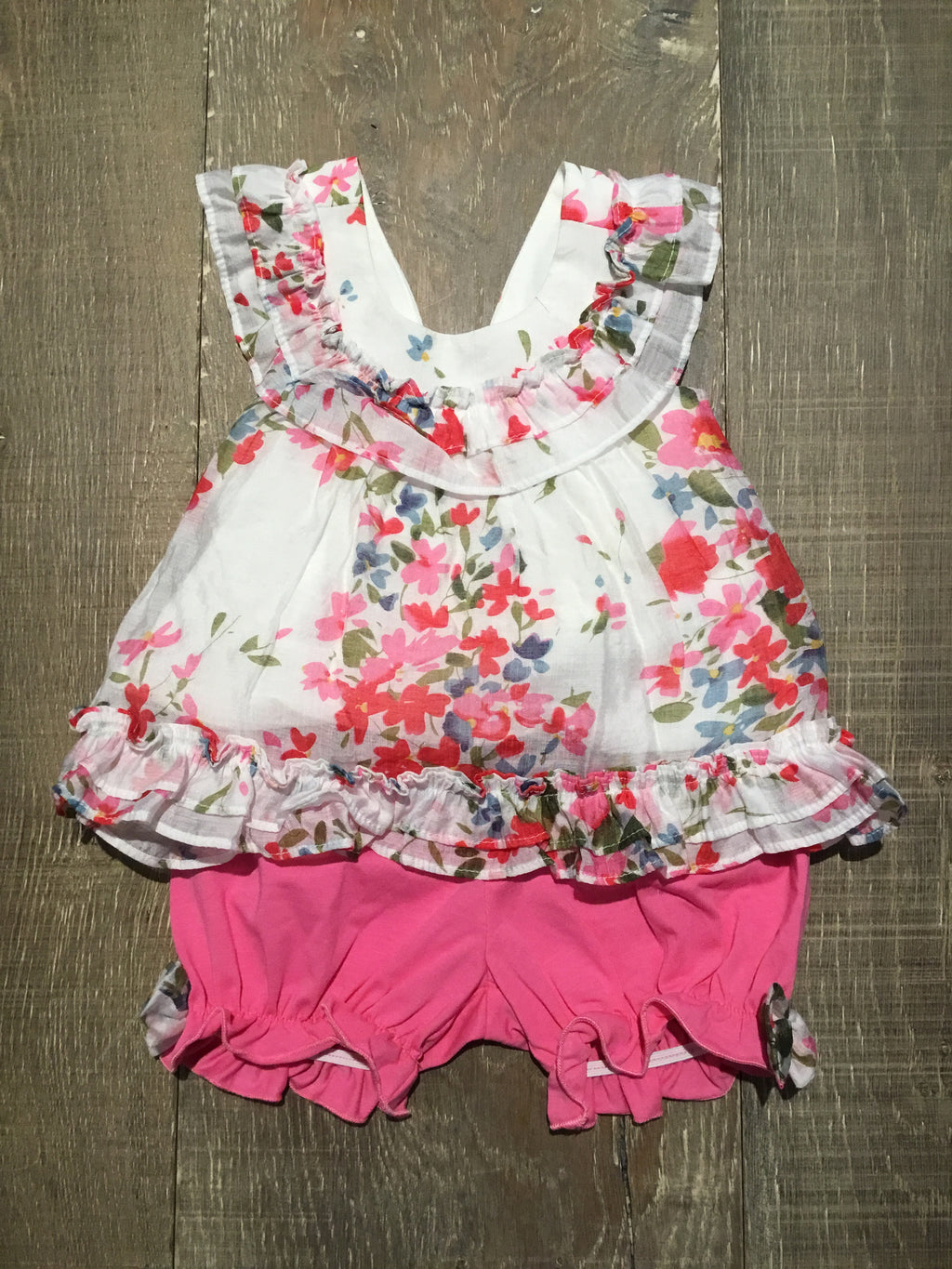 Petaled Pink Top & Bottom