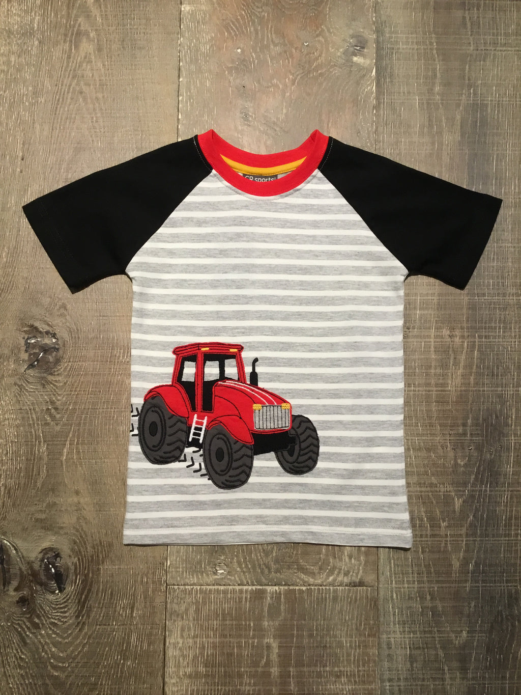 Tractor Raglan Short Sleeve Shirt