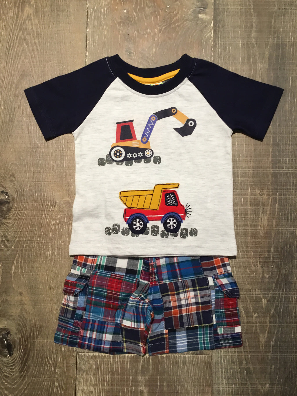 Construction Shirt & Shorts Set